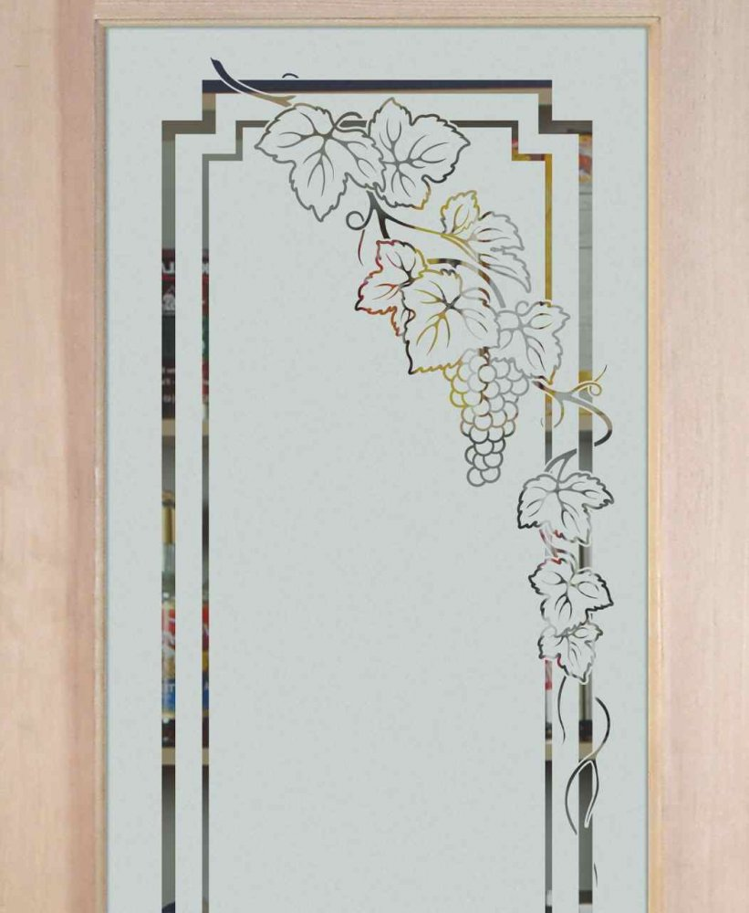Glass Designs For Kitchen Doors: Grapevines & Ivy Designs