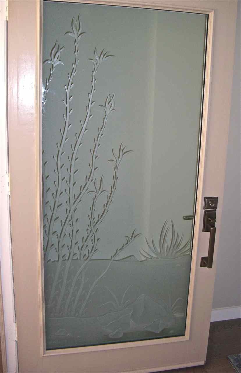 Carved Glass Door Sans Soucie Art Glass