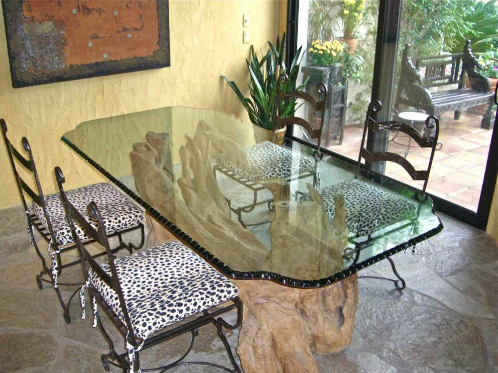 Glass Tables With Chipped Edge Sans Soucie Art Glass