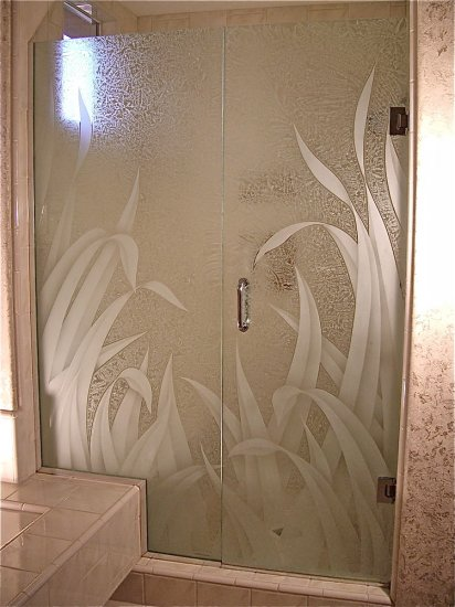 Frosted Glass Showers Sans Soucie Art Glass