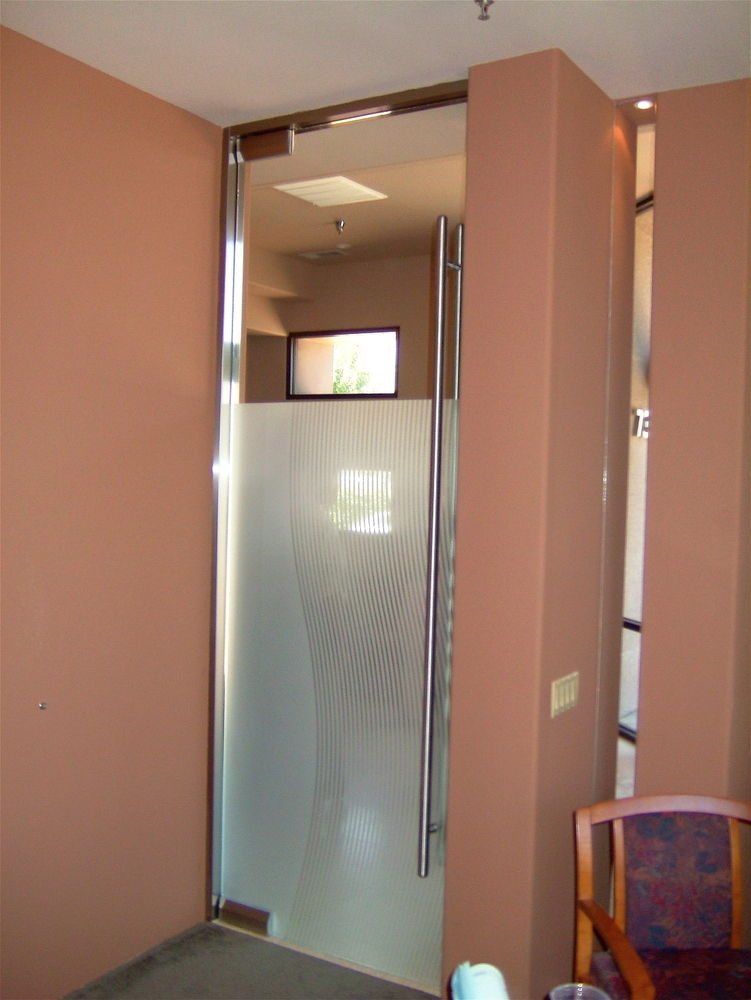 Frosted Frameless Glass Doors Sans Soucie Art Glass