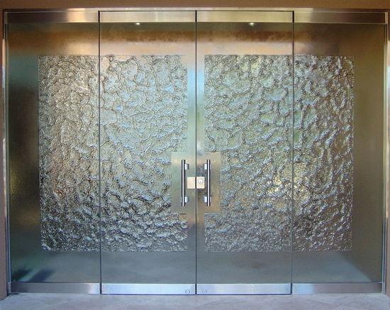 Exterior glass door sans soucie art glass for Exterior frameless glass doors