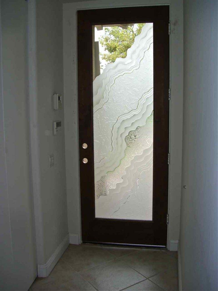 Front door glass sans soucie art glass for Exterior glass panel design