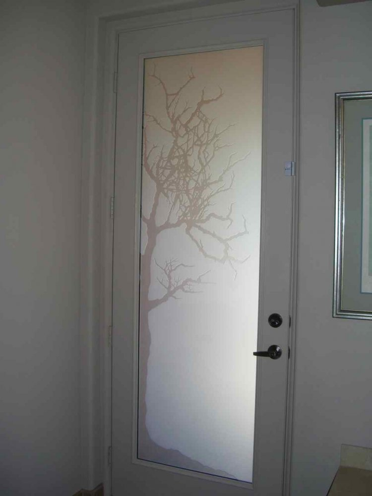 Etched Door Glass Sans Soucie Art Glass