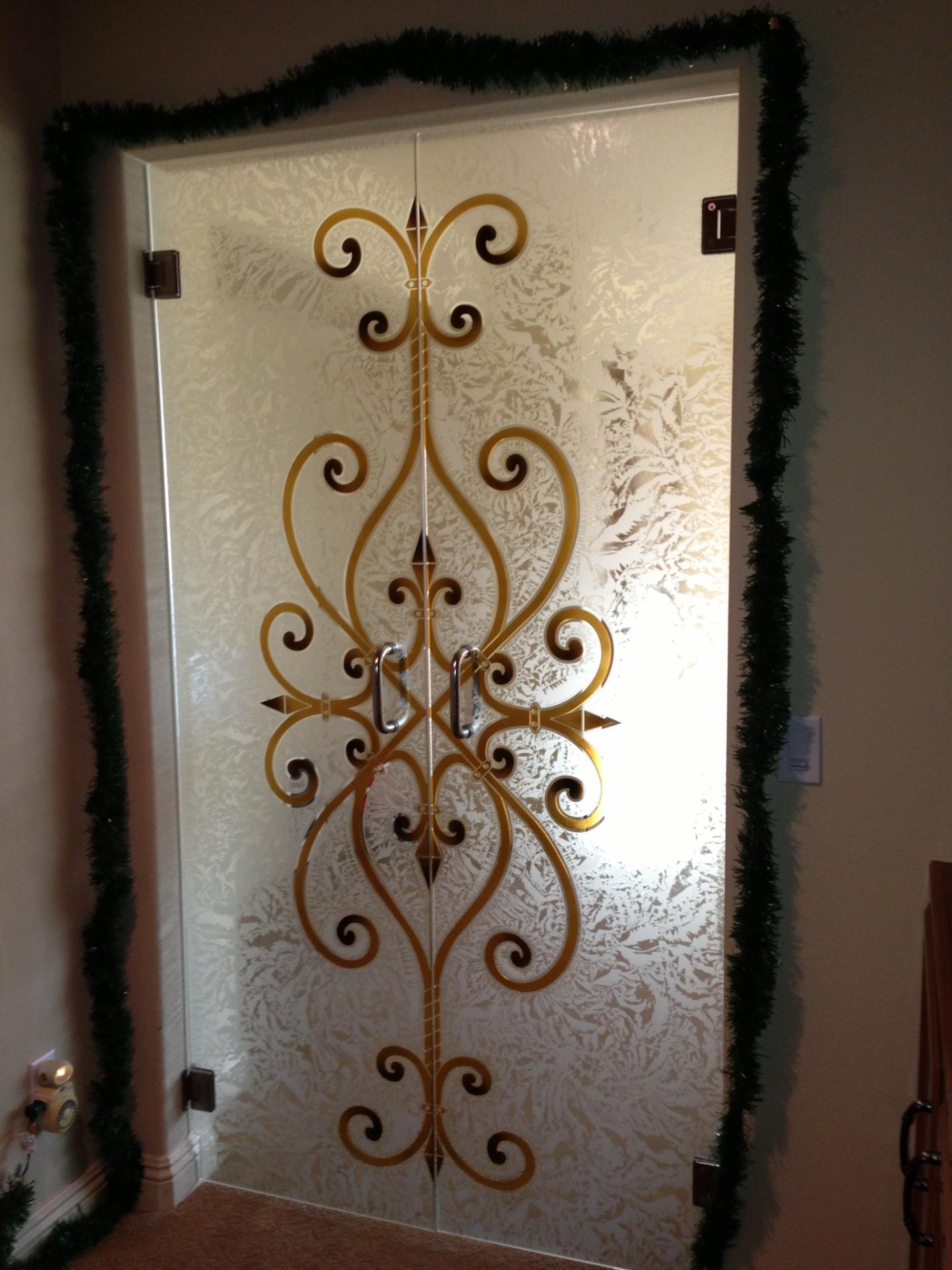 Wrought Iron Designs Sans Soucie Art Glass