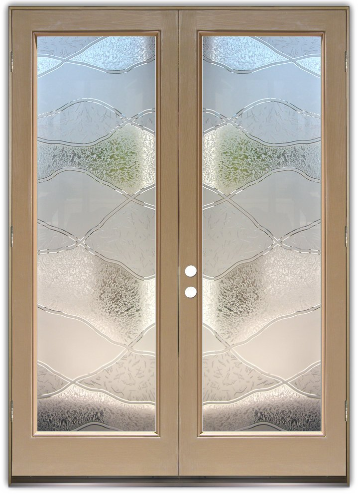 Double entry doors with frosted glass designs sans for Double doors with glass