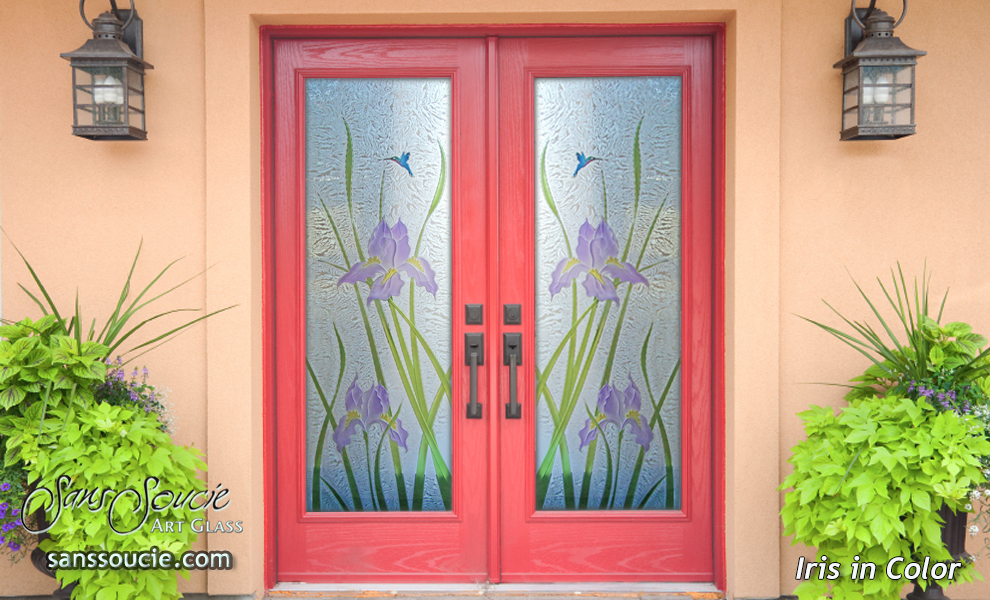 Frosted Glass Doors Sans Soucie Art Glass