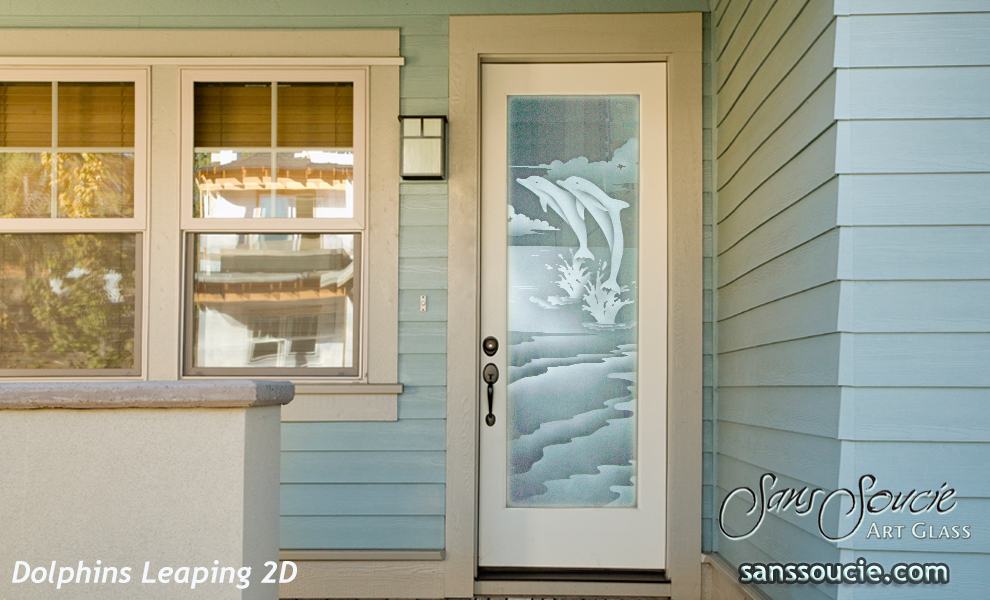 Entry doors sans soucie art glass for Entry door with window