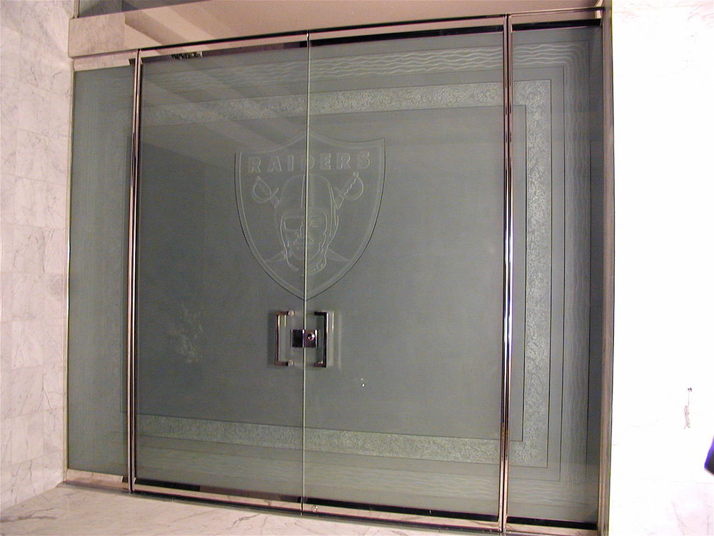 Glass Doors for Al Davis, Raiders Football Team Owner