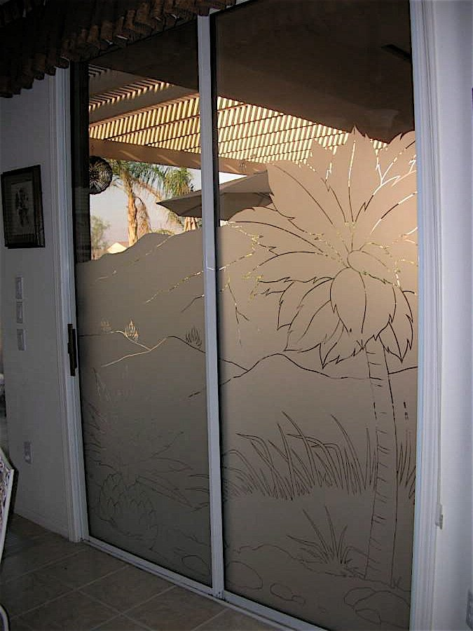 Frosted Glass Doors Tree Designs Sans Soucie Art Glass