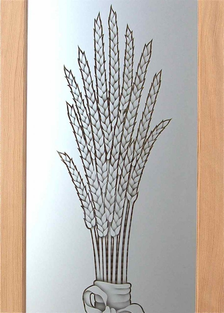 Glass Pantry Doors With Wheat Designs Sans Soucie Art Glass