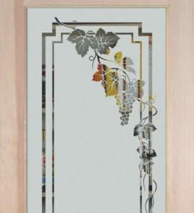 Etched Glass Pantry Doors With Grape Grapevine Designs Sans Soucie