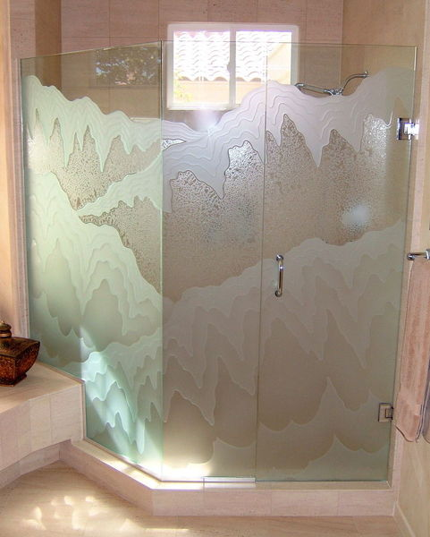 Frosted Glass Shower Panel Sans Soucie Art Glass