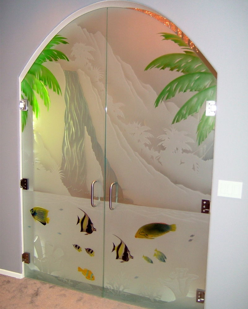 Etched Glass Door With Quot Oceanic Quot Inspiration Sans Soucie