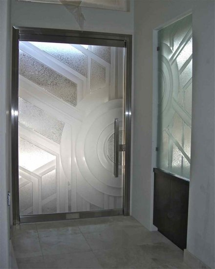 Custom All Glass Entry And Courtyard Doors Sans Soucie
