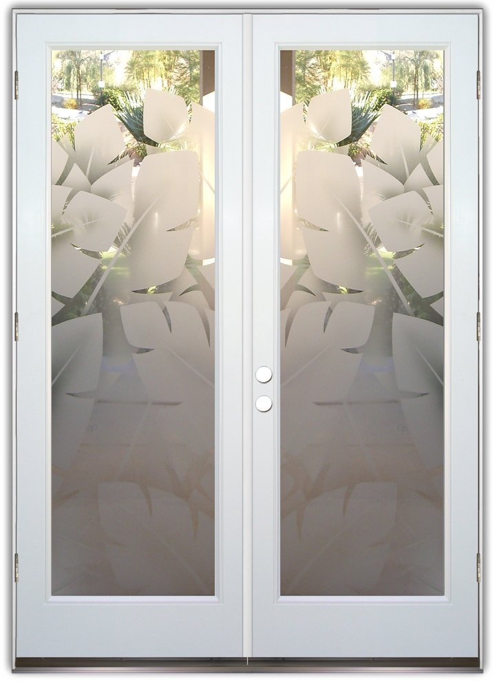 glass front doors banana 2D