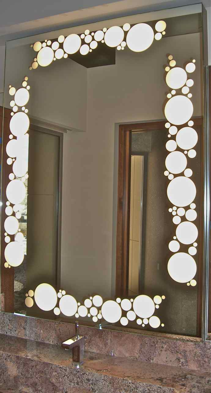 Decorative Wall Mirrors With Back Light Sans Soucie