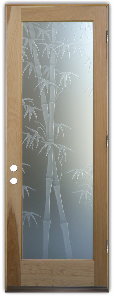 glass front entry doors bamboo