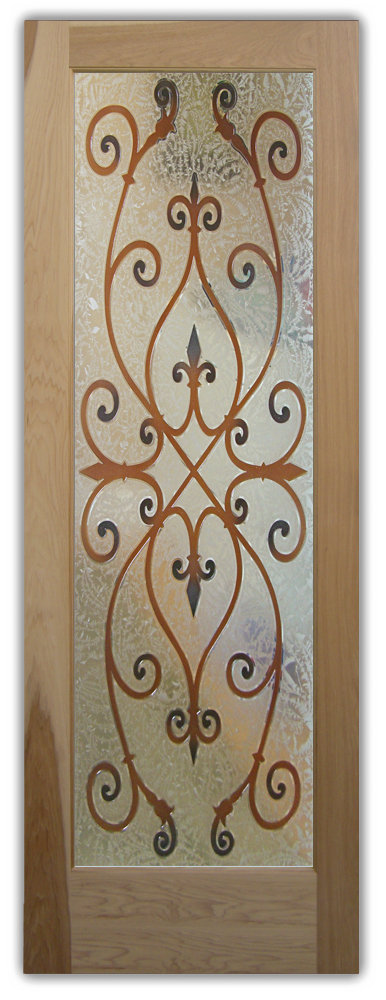 art glass doors ironwork corazones