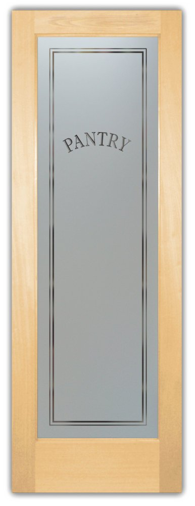 maple frosted glass pantry door for contemporary kitchen | frosted glass pantry doors - Sans Soucie Art Glass