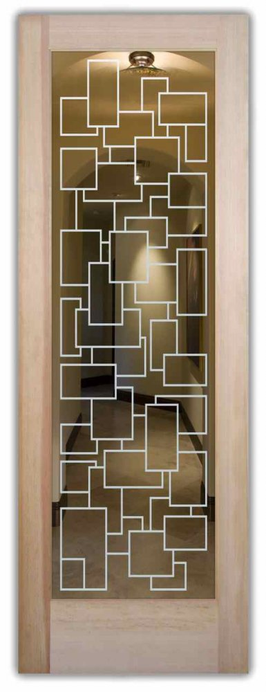 glass doors etched contemporary
