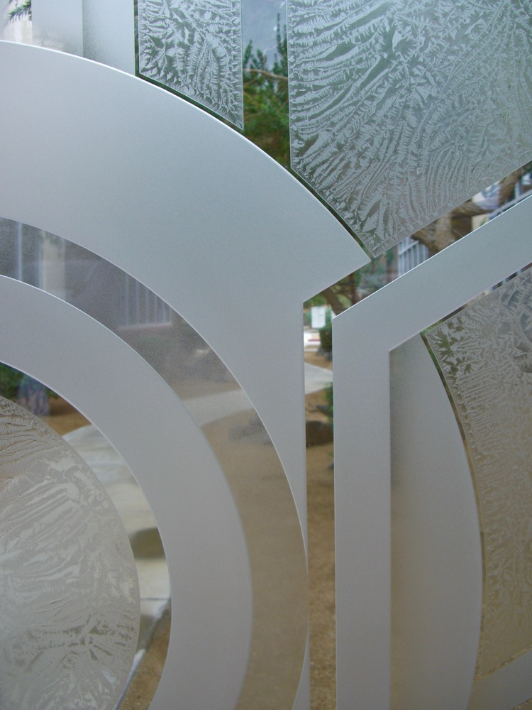 interior etched glass doors geometric contemporary