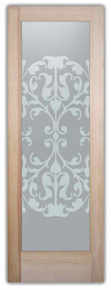 etched glass doors modern geometric