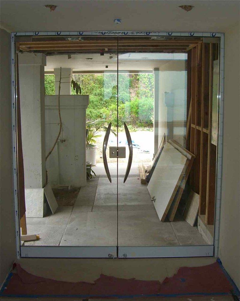 Custom Exterior Gl Doors Frameless