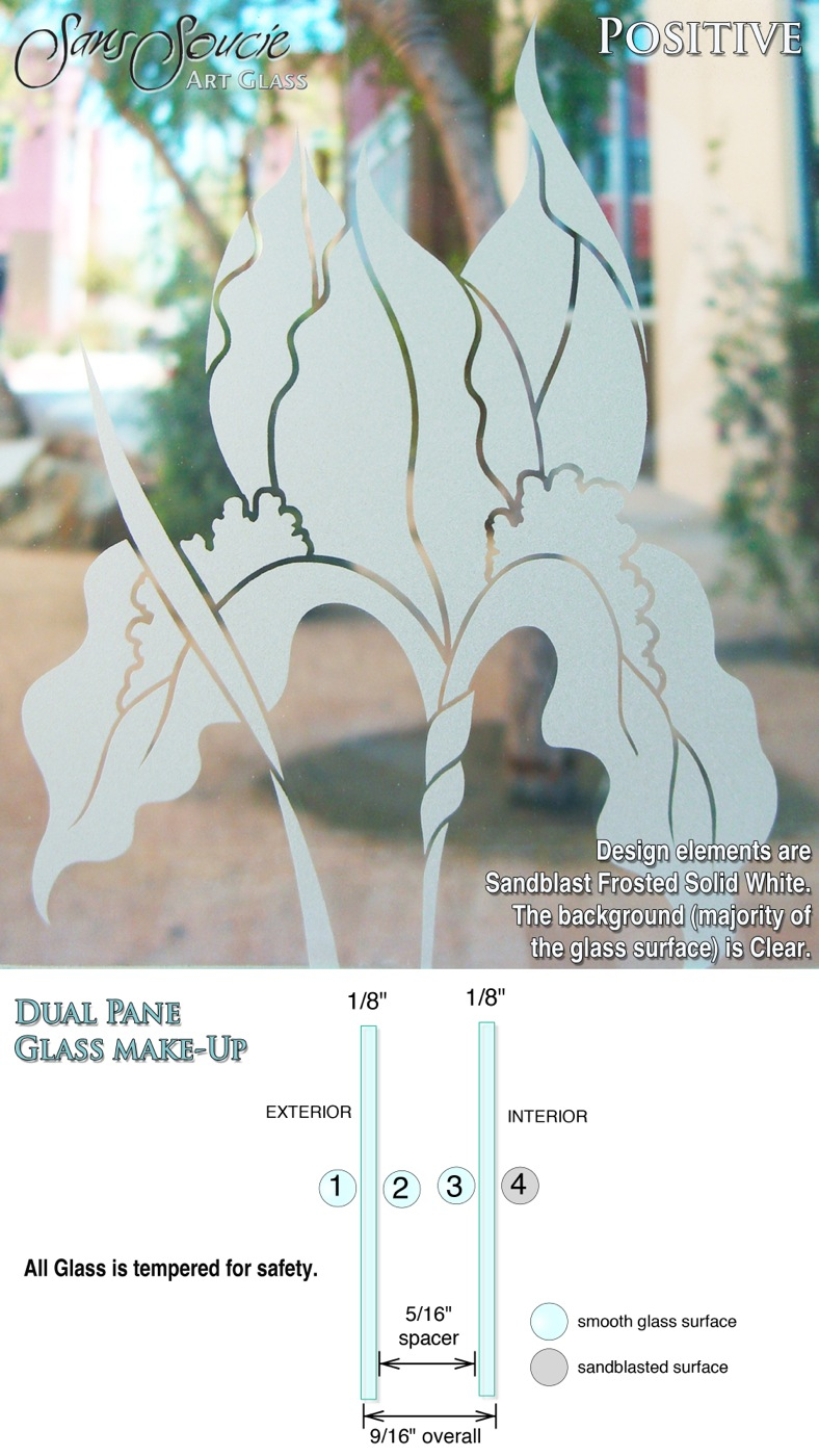 Etched Glass Doors Oak Trees Front