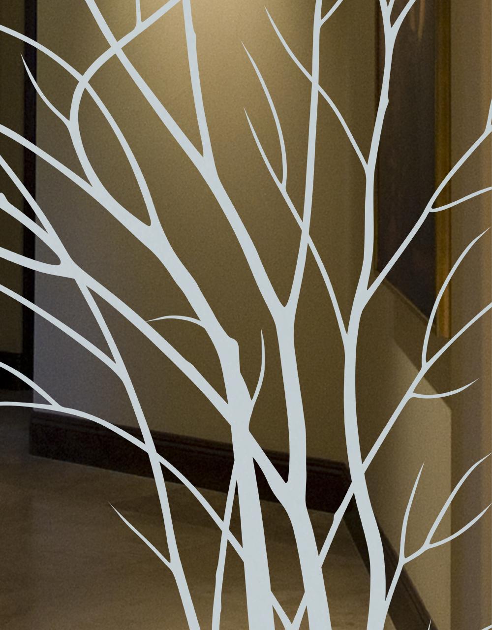 etched glass doors modern geometric circles