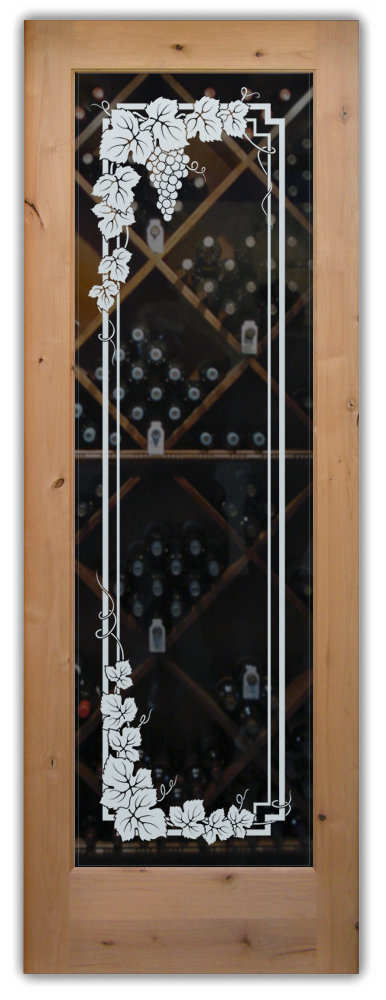 Wine cellar glass doors from Sans Soucie