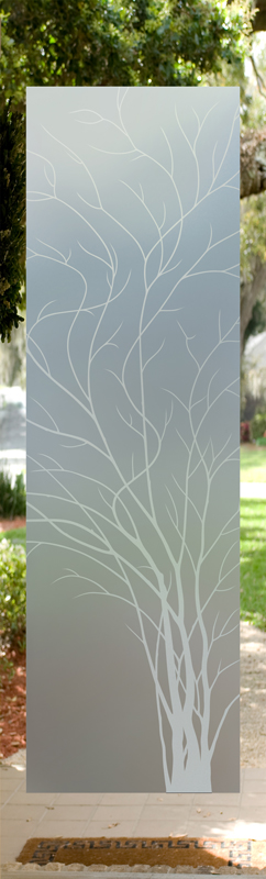etched glass windows flowers iris frosted