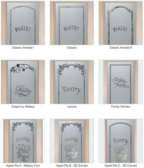 Decorative Glass Pantry Doors Or Inserts Custom Sans Soucie