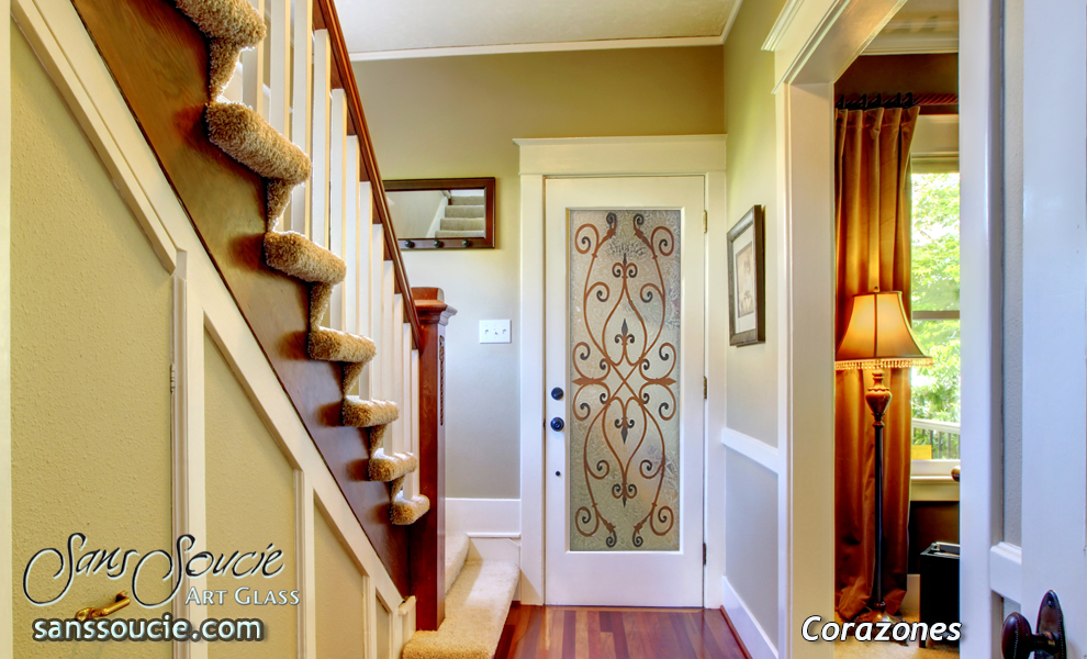 Custom Glass Doors Etched Painted Traditional