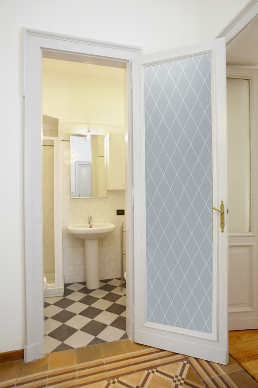 interior etched glass doors modern bathroom