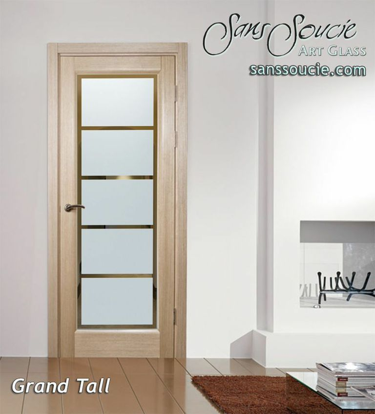 Interior Etched Glass Doors Modern Geometric