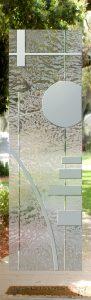Interior Glass Doors Etched Glass Tree oak tree western Sans Soucie