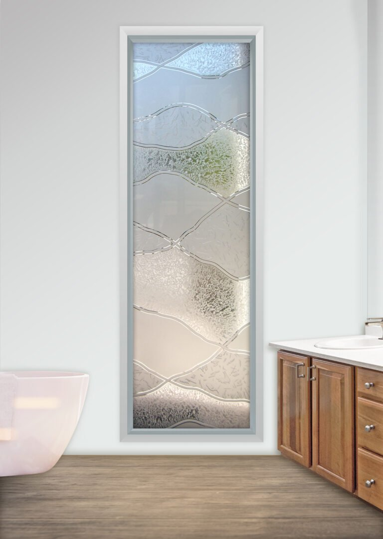 Etched Glass Window Sans Soucie Art Glass