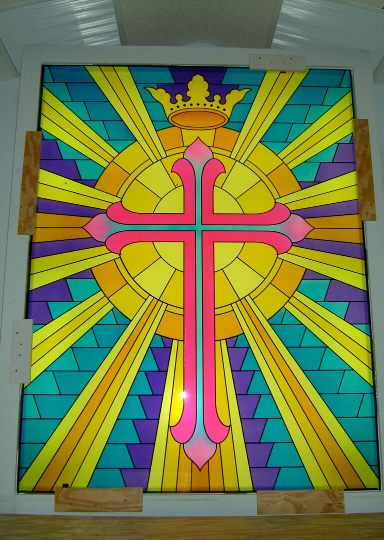 Beaming Cross with Crown