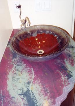Opulent Reds Glass