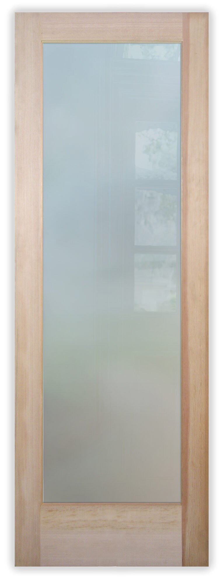 Plain Frosted Glass