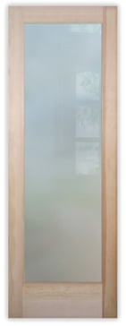 Solid Frosted Glass (no art)