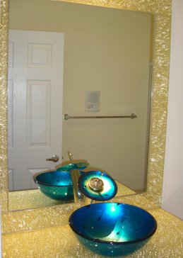 Shattered Glass Gold Mirror