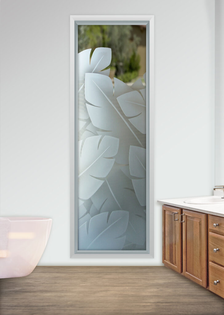 etched frosted glass windows