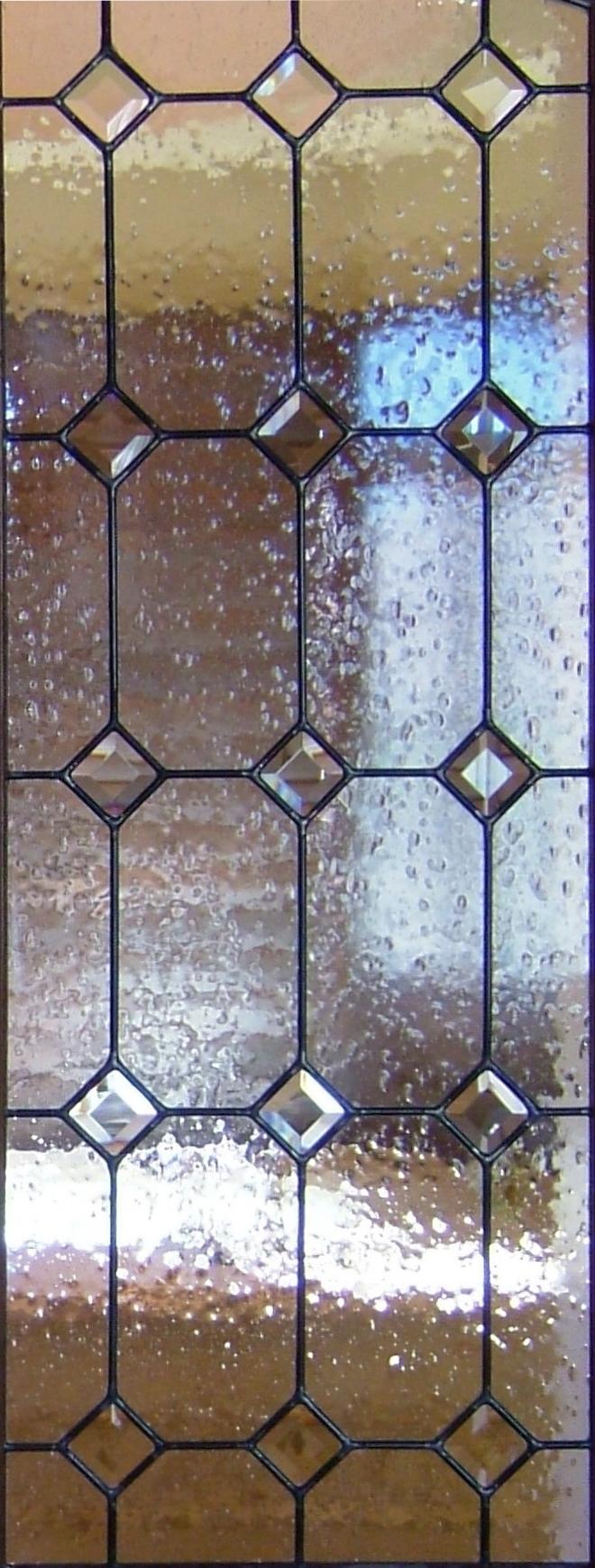 Diamonds Beveled with Seedy Glass