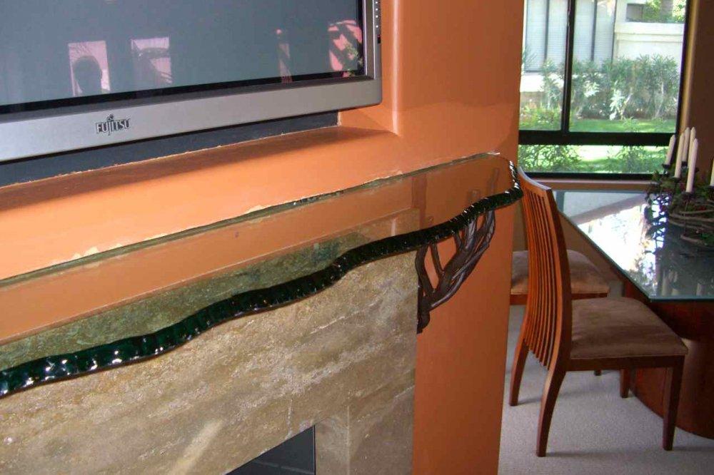 Glass Shelf Shelving L Custom Glass Fireplace Mantel Shelf