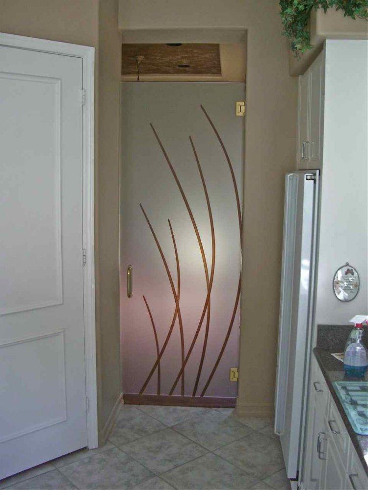 Interior doors glass frameless