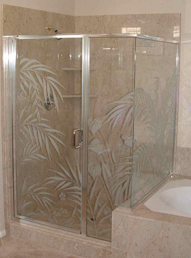 Shower Door Etched Glass Designs